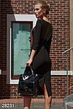 Изящное платье-футляр черного цвета, фото 2