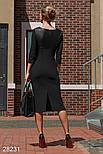 Изящное платье-футляр черного цвета, фото 3