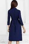 Женское изящное темно-синее платье а-силуэта, фото 3