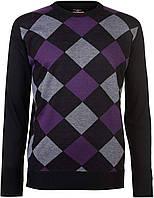 Свитер мужской Pierre Cardin Ромбы фиолетовые с черным, L, фото 1