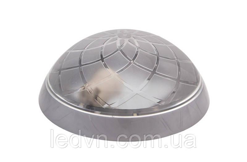 Настінно - стельовий світильник круглий сірий на одну лампочку