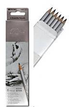 Набор простых карандашей 6шт, HB-8В / Marco Raffine