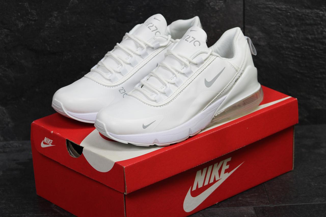 3febabf6 Белые мужские кроссовки Nike Air 270, кожаные(Реплика): продажа ...