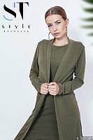 Платье+Кардиган строгий стиль, цвет Хаки Арт. 36881, фото 1