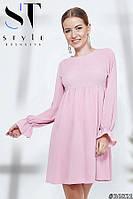 Платье с завышенной талией бейби-долл, розовое Арт. 36821, фото 1