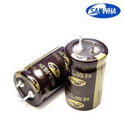 150mkf - 400v  HE 22*40  SAMWHA, 105°C