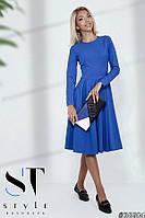 Красивое приталенное платье с расклешеной юбкой, Электрик Арт. 36604, фото 1