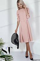 Элегантное платье-миди в нежных тонах, Пудра Арт. 35777, фото 1