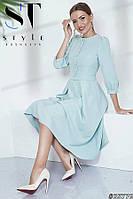 Элегантное платье-миди в нежных тонах, Шалфей Арт.35776, фото 1