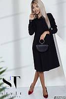 Платье-рубашка в стиле оверсайз, черное Арт.35763, фото 1