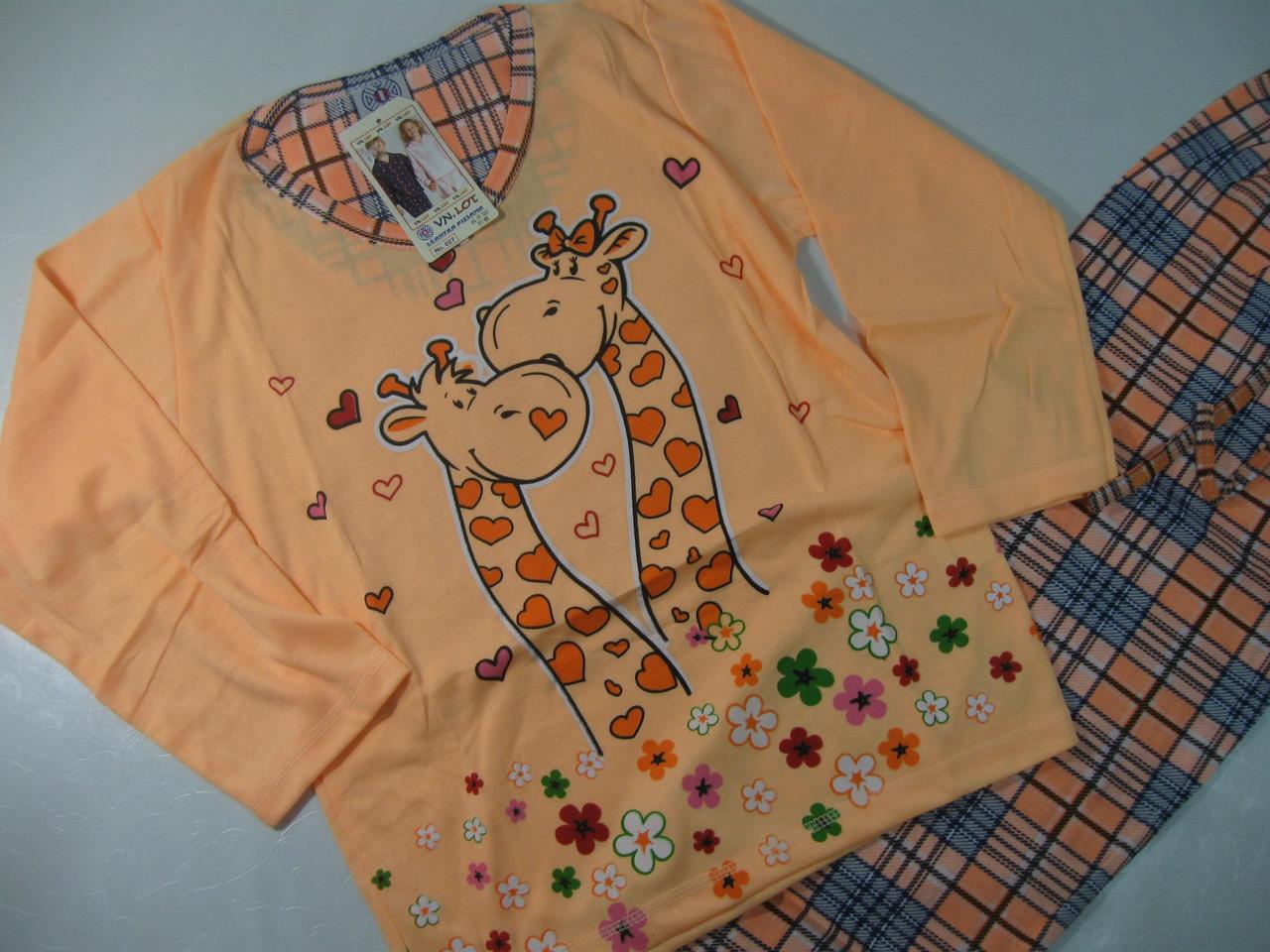 Пижама для девочек трикотажная, размеры 134-164, арт. 027