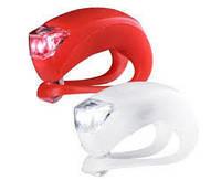 Фонарь велосипедный HJ008-2 белый и красный маячки