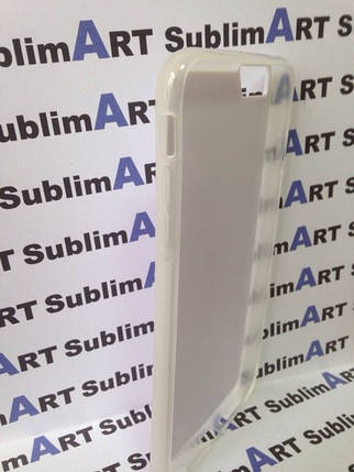 Чехол для 2D сублимации резиновый (TPU) Iphone 6/6s прозрачный, фото 2