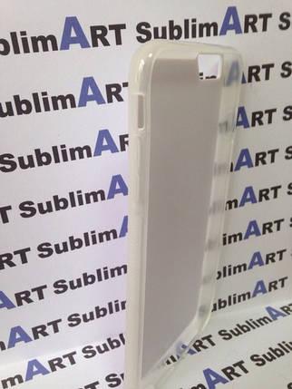 Чехол для 2D сублимации резиновый (TPU) Iphone 6/6s PLUS прозрачный, фото 2
