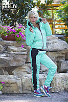 Теплый костюм стеганный ментол, фото 1
