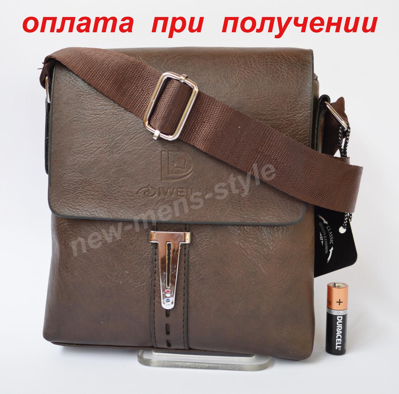 Чоловіча чоловіча шкіряна сумка барсетка через плече Diweilu Polo NEW