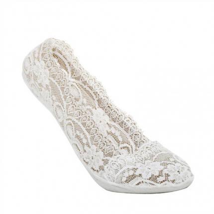 Кружевные тапочки-носочки белые, фото 2