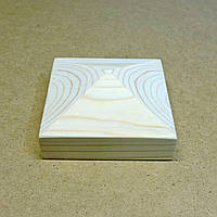 Пирамида деревянная 10х10х4,5см  бланже