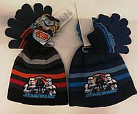 Шапка+перчатки для мальчиков Star Wars оптом.