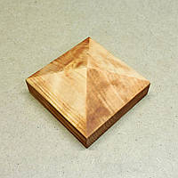 Пирамида деревянная 10х10х4,5см  шафран