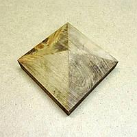 Пирамида деревянная 10х10х4,5см  капучино