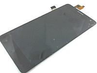 Оригинальный дисплей (модуль) + тачскрин (сенсор) с рамкой для Nomi i550 Space (черный цвет)