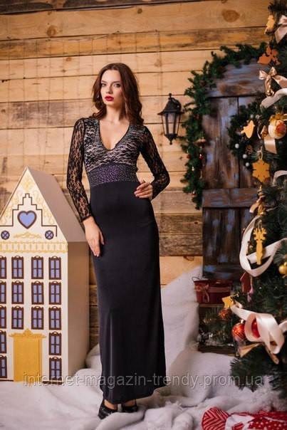 Вечернее платье в пол со стразами 108
