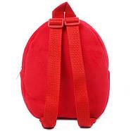 Детский рюкзак велюровый Божья коровка Berni, фото 2