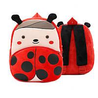 Рюкзак велюровый для дошкольника Berni Божья коровка Красный (46742)
