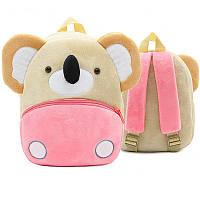 Рюкзак велюровый для ребенка дошкольного возраста Berni Коала Бежевый с розовым (46744)