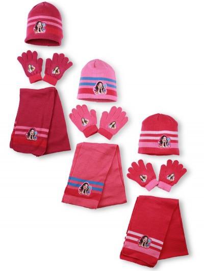 {есть:Один размер} Шапка+шарф+перчатки для девочек Disney. [Один размер]
