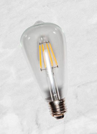 COW лампа LED ST64 6W Clear 2700K E27 IC, фото 2