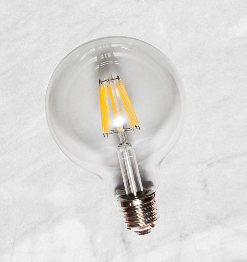 COW лампа LED G80 6W Clear 2700K E27 IC