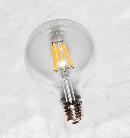 COW лампа LED G80 6W Clear 2700K E27 IC, фото 2