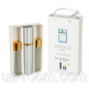 Мини-парфюм мужской Versace Man Eau Fraiche, 3х15 мл, фото 2