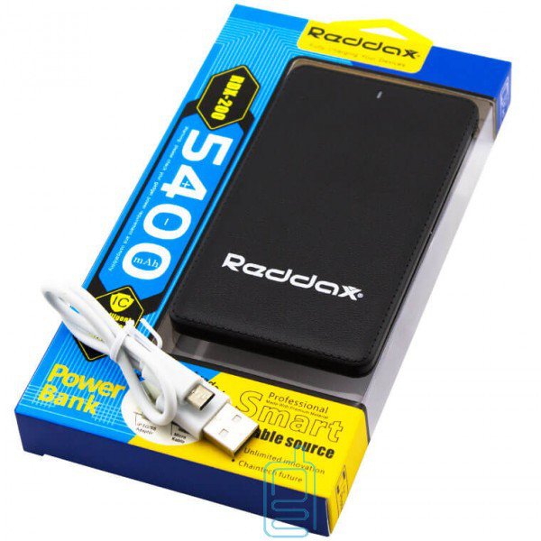 Power Bank Reddax RDX-200 5400 mAh черный