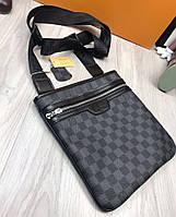 Сумка мужская через плечо почтальенка брендовая Louis Vuitton копия высокого качества
