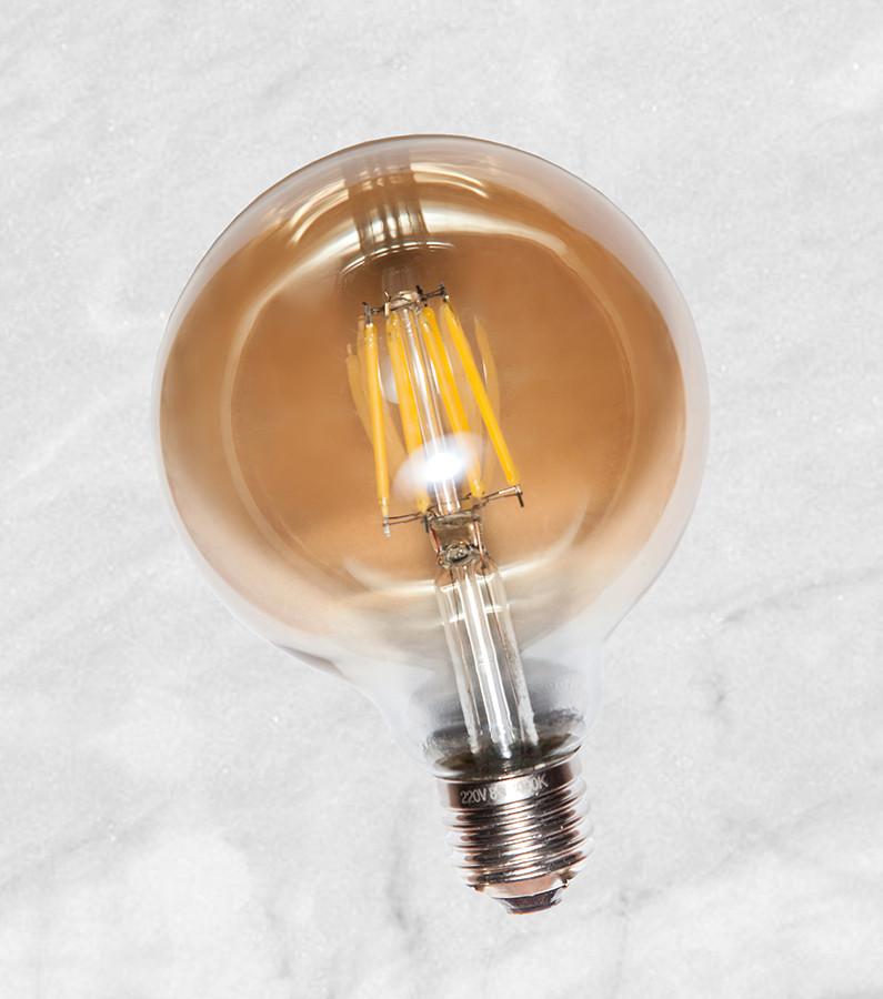 COW лампа LED G80 4W Amber 2700K E27 RC