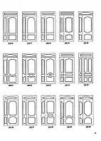 Теснения МДФ (рисунок) для двустворчатых дверей , фото 1