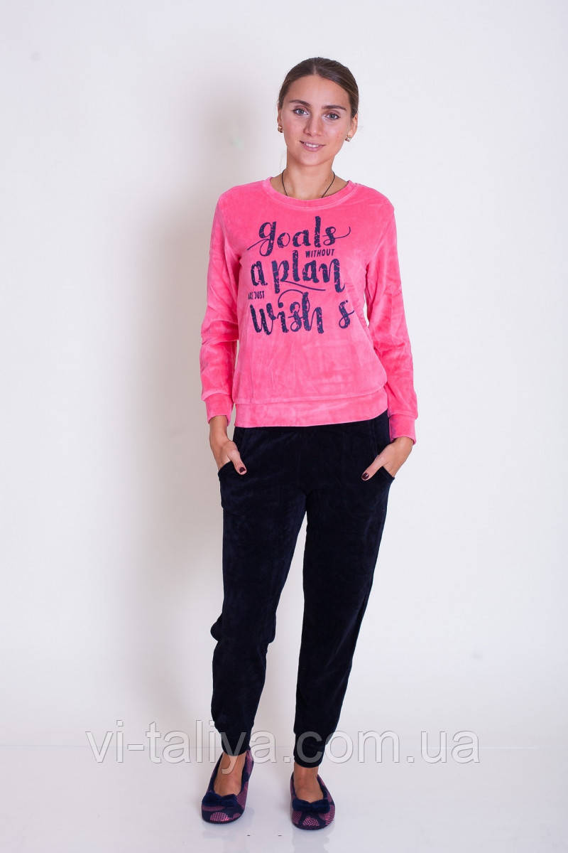 7d2302b1615b Женский велюровый костюм для дома и отдыха Nicoletta 87071 - интернет-магазин  vi-taliya