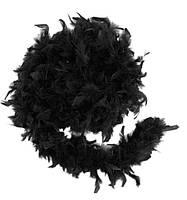 Боа из перьев 80г (чёрное)