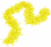 Боа из перьев 80г (жёлтое)