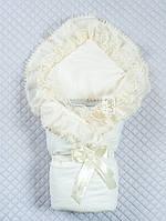 """Конверт-одеяло на выписку кремовый """"Мария"""""""