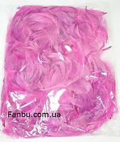 Декоративные нежно лилово-розовые перья в пакете(1уп 120-130перьев), фото 1