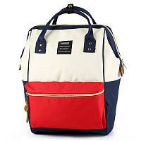Сумка-рюкзак для мамы Red-white (белый-красный)