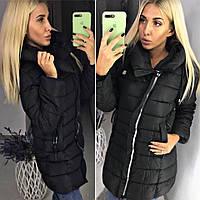 Пальто теплое женское