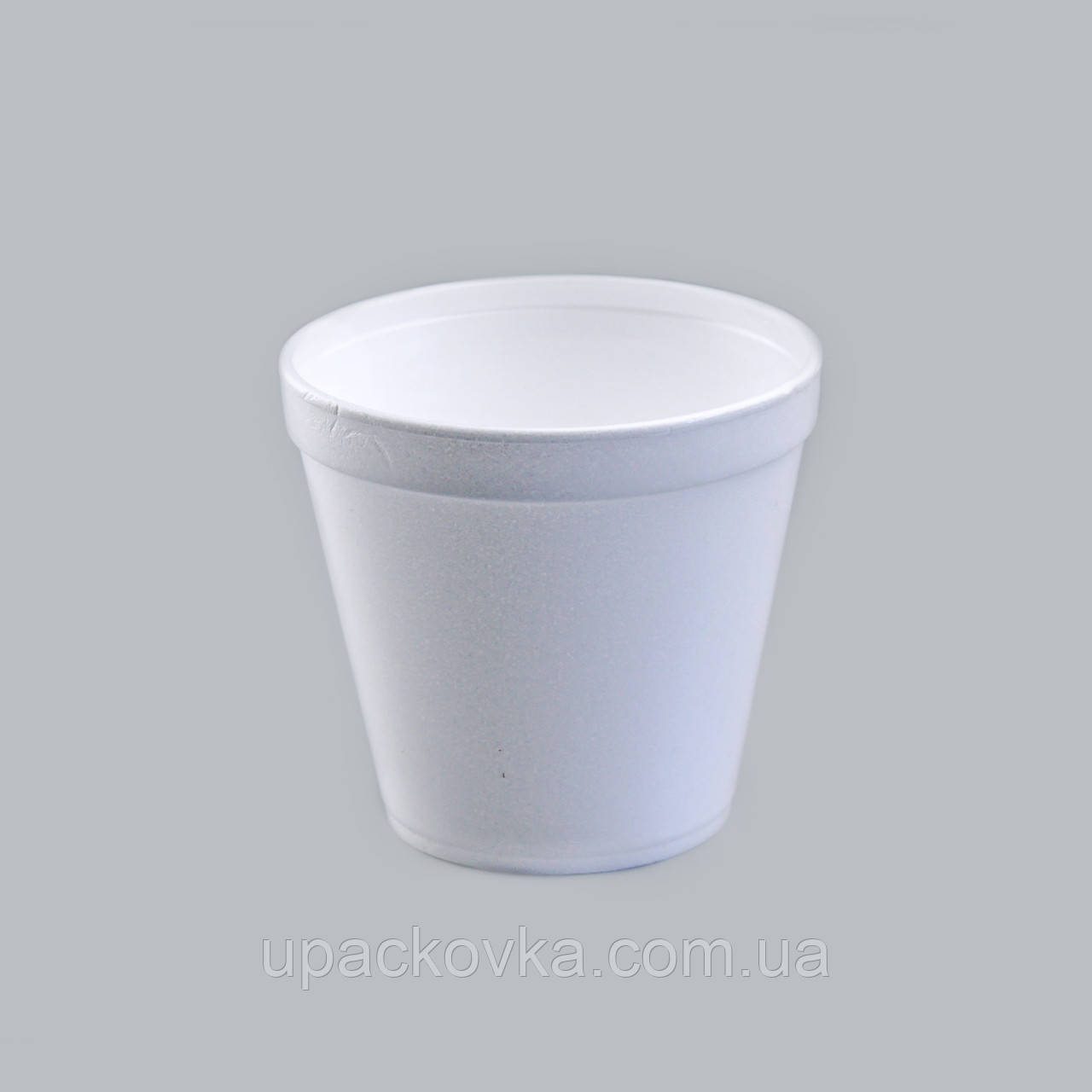 Емкость супная из вспененного полистирола с крышкой, 570 мл
