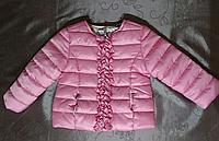 Куртка для девочки ростом 74 см(*9-12 мес.) демисезонная  розовая стеганая
