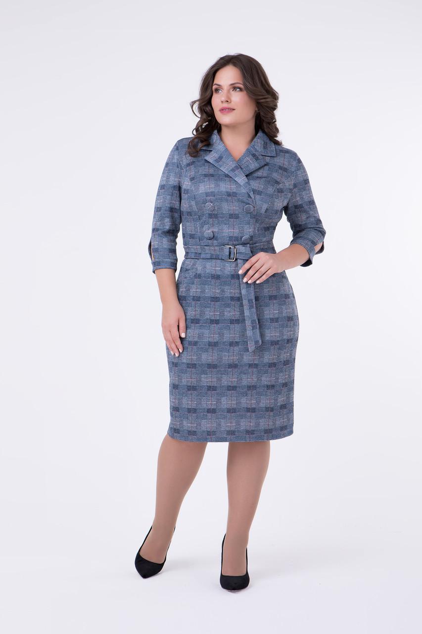 d648312e84d3 Стильное платье в клетку для полных женщин Лина  продажа, цена в ...