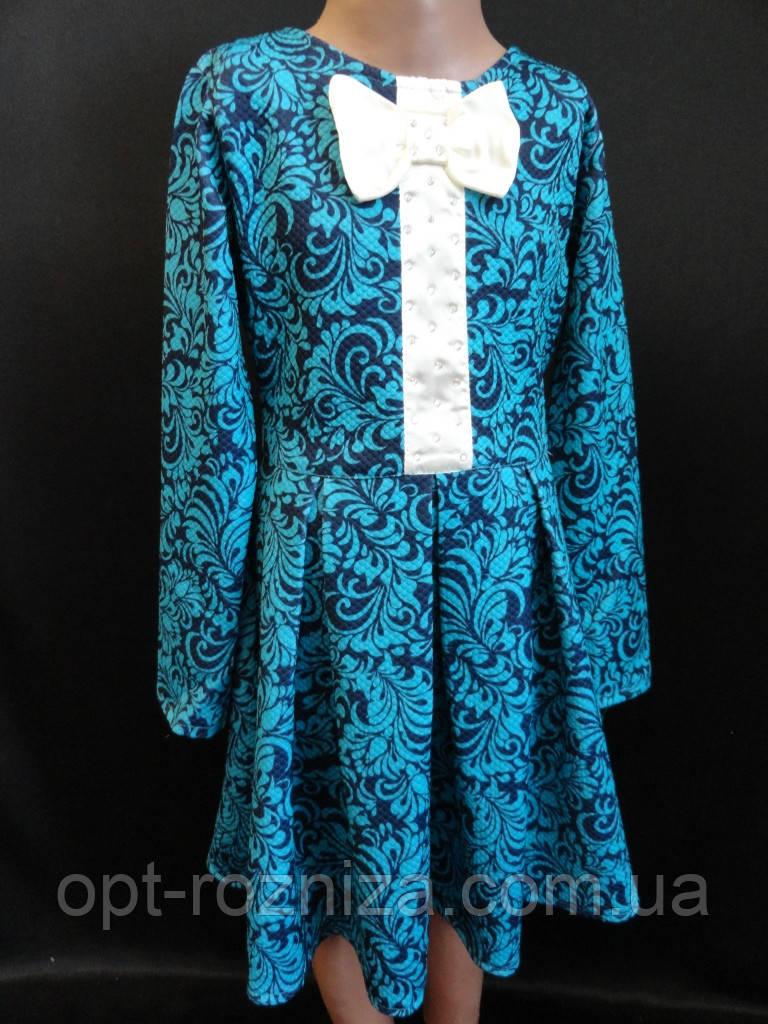 Трикотажные детские платья с красивым узором